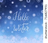 vector hello winter typographic ... | Shutterstock .eps vector #716827951