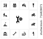set of 13 editable construction ...