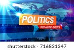 screensaver for news politics  | Shutterstock .eps vector #716831347