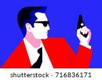 secret agent  spy  policeman ...   Shutterstock .eps vector #716836171