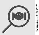 business handshake vector icon... | Shutterstock .eps vector #716838259