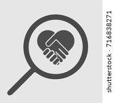 handshake heart symbol vector... | Shutterstock .eps vector #716838271