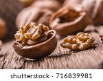 Walnut. Walnut Kernels And...