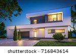 3d rendering of modern cozy... | Shutterstock . vector #716843614