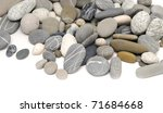 pebbles over white background - stock photo