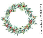 christmas botany illustration.... | Shutterstock . vector #716847814