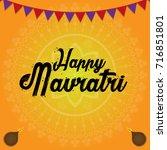 indian festival navratri... | Shutterstock .eps vector #716851801
