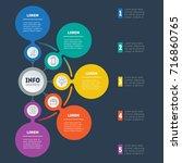 business presentation or... | Shutterstock .eps vector #716860765