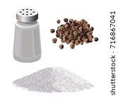 salt and pepper set. vector... | Shutterstock .eps vector #716867041