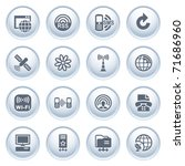 communication icons on buttons  ... | Shutterstock .eps vector #71686960