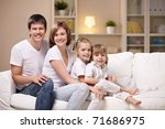 families with children in the... | Shutterstock . vector #71686975
