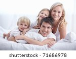 a young family with young... | Shutterstock . vector #71686978