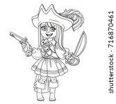 cute girl in pirate costume
