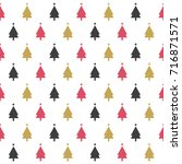 seamless pattern with christmas ... | Shutterstock .eps vector #716871571
