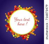 halloween round banner with... | Shutterstock .eps vector #716873479