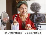 people  lifestyle  occupation ... | Shutterstock . vector #716878585