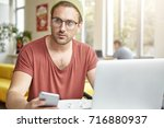 Fashionable Man Texts Sms On...