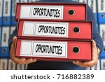 opportunities concept words.... | Shutterstock . vector #716882389