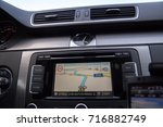 the car panel navigation | Shutterstock . vector #716882749