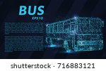 the bus from the particles. the ... | Shutterstock .eps vector #716883121