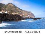 coastal landscape of porto... | Shutterstock . vector #716884075