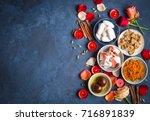 indian diwali celebratory... | Shutterstock . vector #716891839