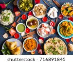 festive food for indian... | Shutterstock . vector #716891845