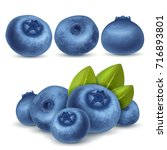 berry blueberry set for icon ... | Shutterstock .eps vector #716893801