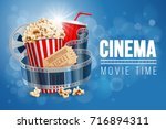 cinematograph concept banner... | Shutterstock .eps vector #716894311