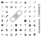 patch bandage icon black icon... | Shutterstock .eps vector #716896921