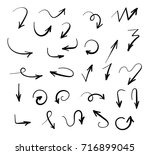 hand drawn arrows set isolated... | Shutterstock .eps vector #716899045