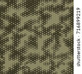 military camouflage seamless... | Shutterstock .eps vector #716899219
