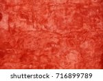 grunge scarlet red vivid uneven ... | Shutterstock . vector #716899789