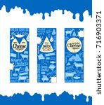 vector cheese banners set. milk ... | Shutterstock .eps vector #716903371