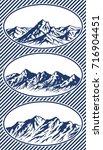 set of mountain range...   Shutterstock .eps vector #716904451