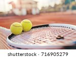 tennis game. tennis ball with... | Shutterstock . vector #716905279