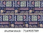 seamless african pattern.... | Shutterstock .eps vector #716905789