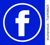 facebook logo round for... | Shutterstock .eps vector #716908825