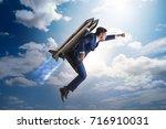 businessman in career...   Shutterstock . vector #716910031
