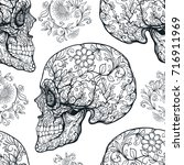 seamless pattern  background... | Shutterstock .eps vector #716911969