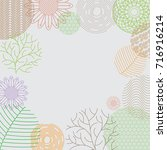 pattern leaves and flowers...   Shutterstock .eps vector #716916214