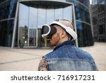modern lifestyle  futuristic... | Shutterstock . vector #716917231