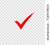 Red Check Mark Icon. Vector...