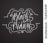 black friday. vector lettering. ... | Shutterstock .eps vector #716921449