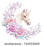watercolor hand drawn... | Shutterstock . vector #716923069