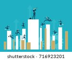 a lot of business young people... | Shutterstock .eps vector #716923201