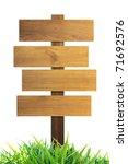 wooden signs | Shutterstock . vector #71692576