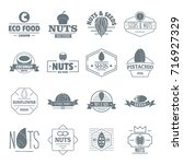 nuts seeds logo icons set.... | Shutterstock .eps vector #716927329