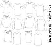 vector drawings of women's cold ... | Shutterstock .eps vector #716946421