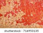 peeling paint on old wooden... | Shutterstock . vector #716953135